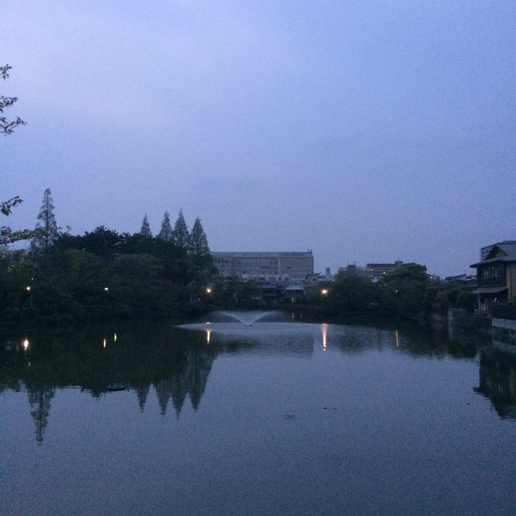 2015年4月19日(日)夕方6時頃の桃ヶ池