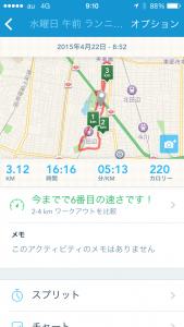 2015年4月22日(水)RunKeeper