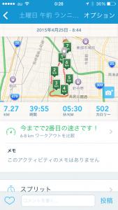 2015年4月25日(土)RunKeeper