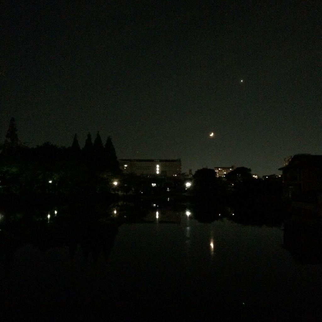 2015年5月21日(木)20時頃の桃が池
