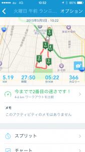 2015年5月5日(火)RunKeeper