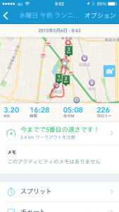 2015年5月6日(水)RunKeeper