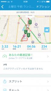 2015年5月9日(土)RunKeeper