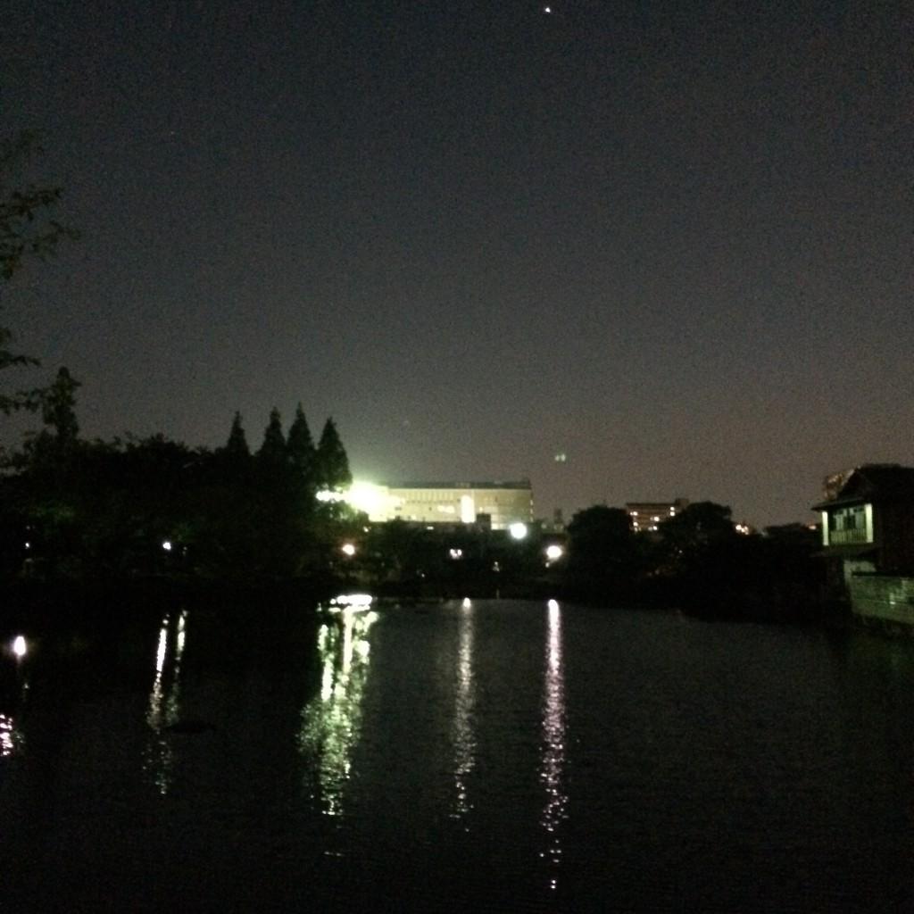 2015年5月25日(火)夜8時頃の桃ヶ池