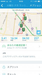2015年5月26日(火)RunKeeper