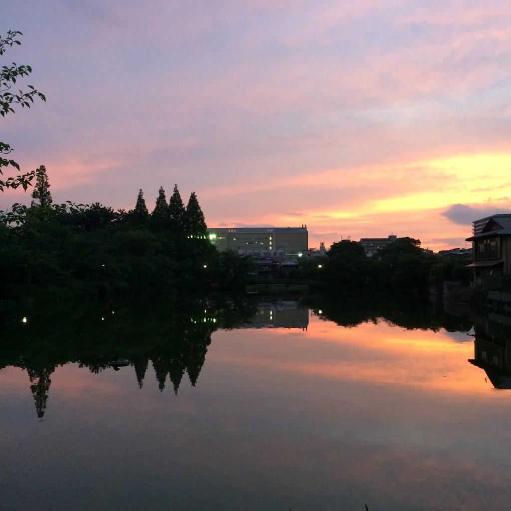 2015年6月9日(火)19時頃の桃が池