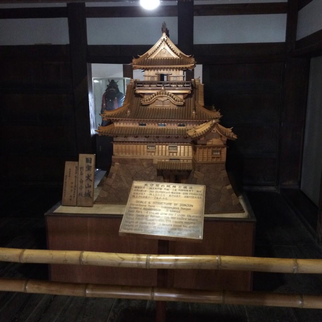 2015年6月12日(金)犬山城の模型