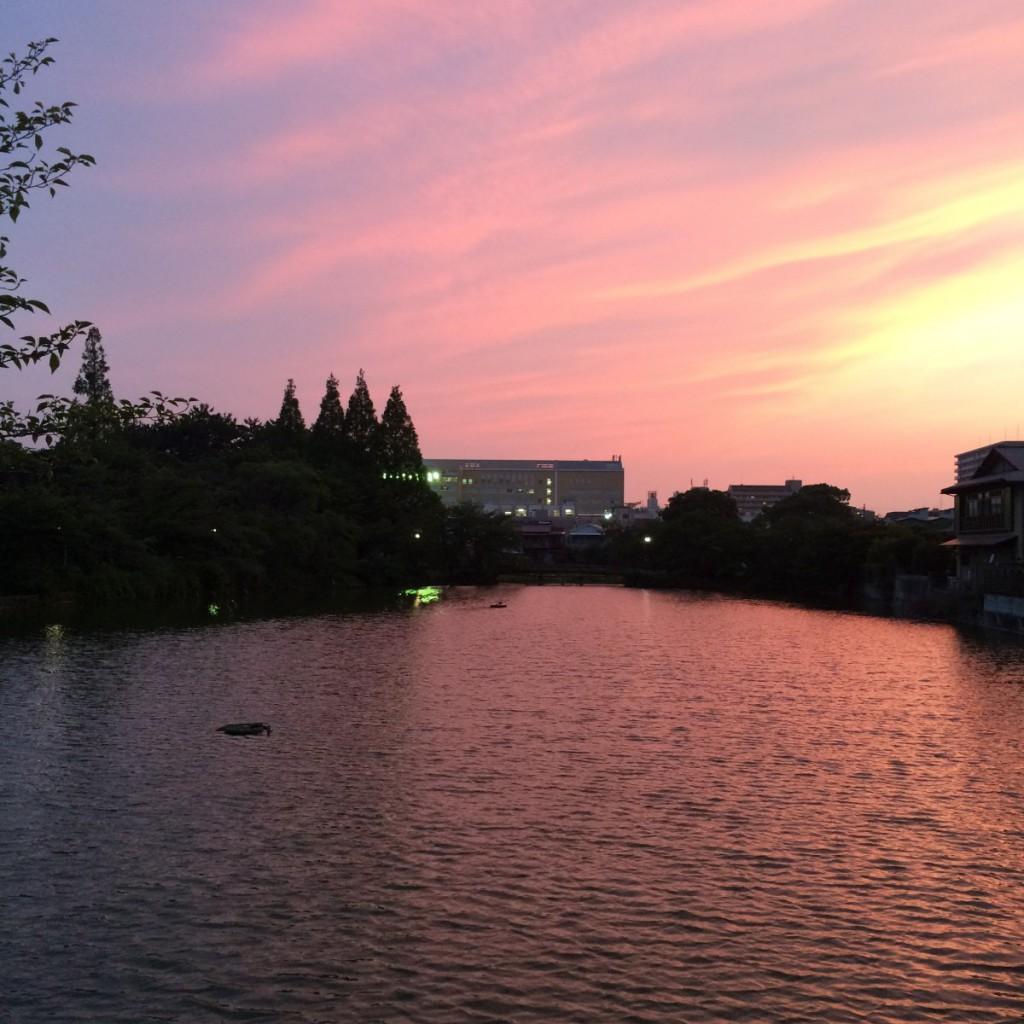 2015年6月23日(火)19時頃の桃が池