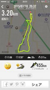 2015年7月10日(金)Nike+