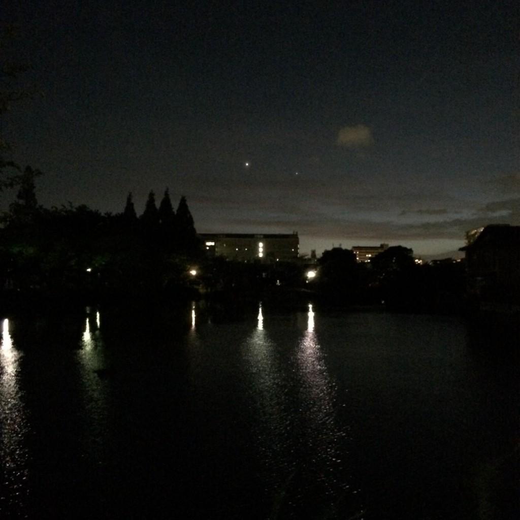 2015年7月13日(月)20時頃の桃が池