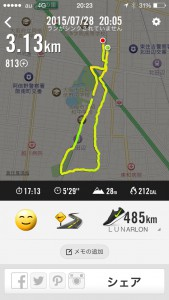 2015年7月28日(火)Nike+