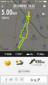 2015年8月2日(日)Nike+