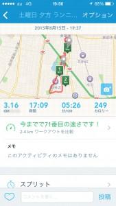 2015年8月15日(土)RunKeeper