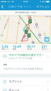2015年8月16日(日)RunKeeper