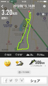 2015年8月16日(日)Nike+