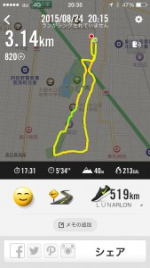 2015年8月24日(月)Nike+