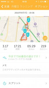 2015年9月7日(月)RunKeeper