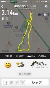 2015年9月7日(月)Nike+