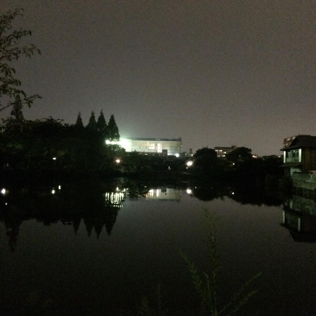 2015年9月15日(火)19時半頃の桃が池