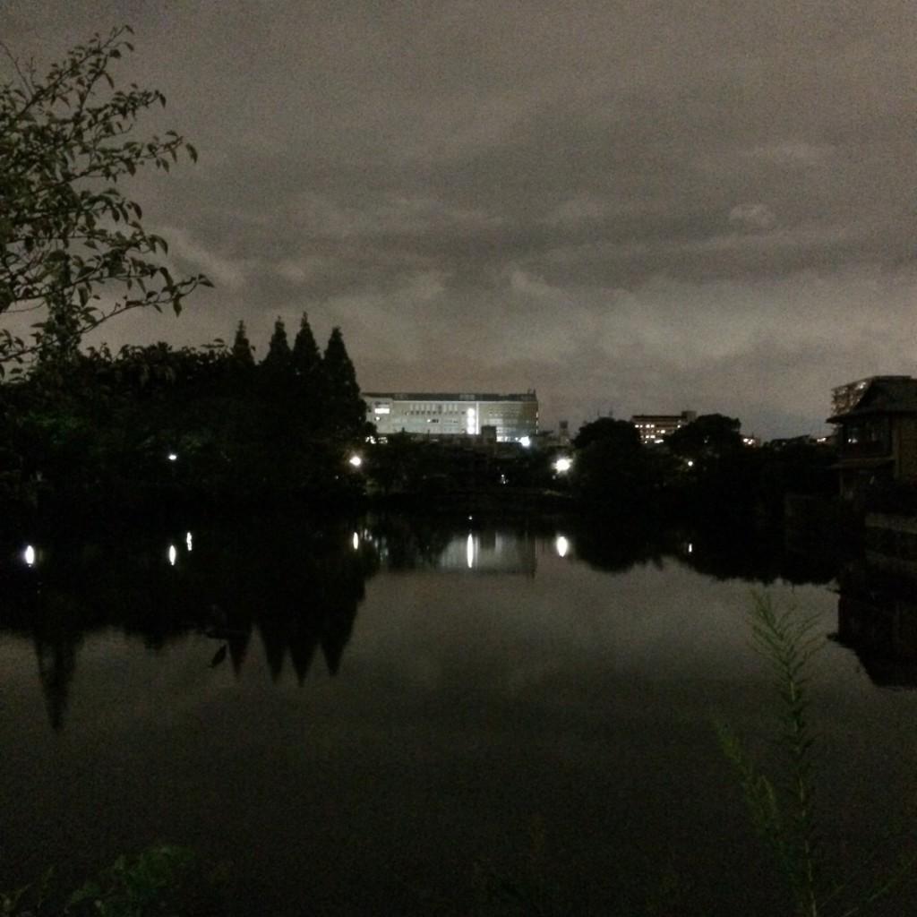 2015年9月17日(木)19時半頃の桃が池