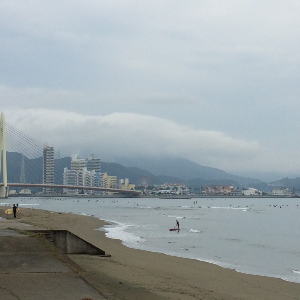 2015年9月27日(日)朝9時の浜の宮ビーチ