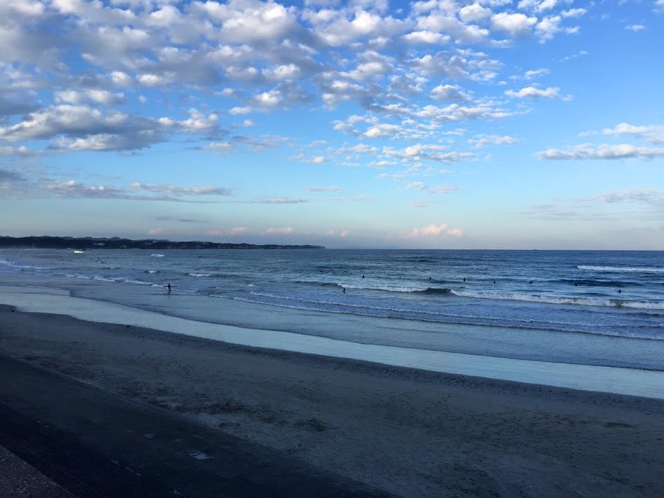 2015年10月17日(土)夕方の伊勢国府の浜