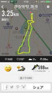 2015年10月2日(金)nike+