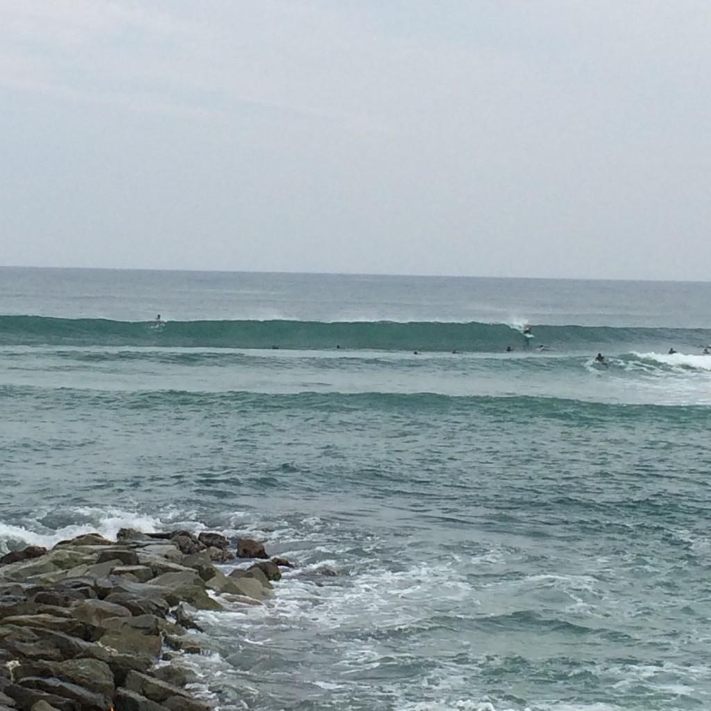 2015年10月11日(日)八丁浜の波2