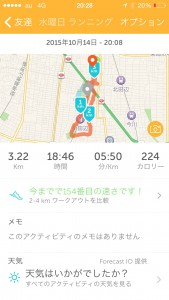 2015年10月14日(水)RunKeeper