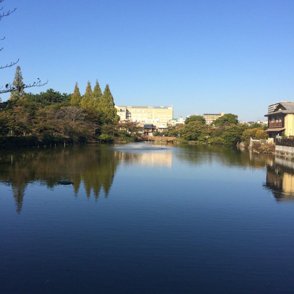 2015年10月17日(土)7時半頃の桃が池