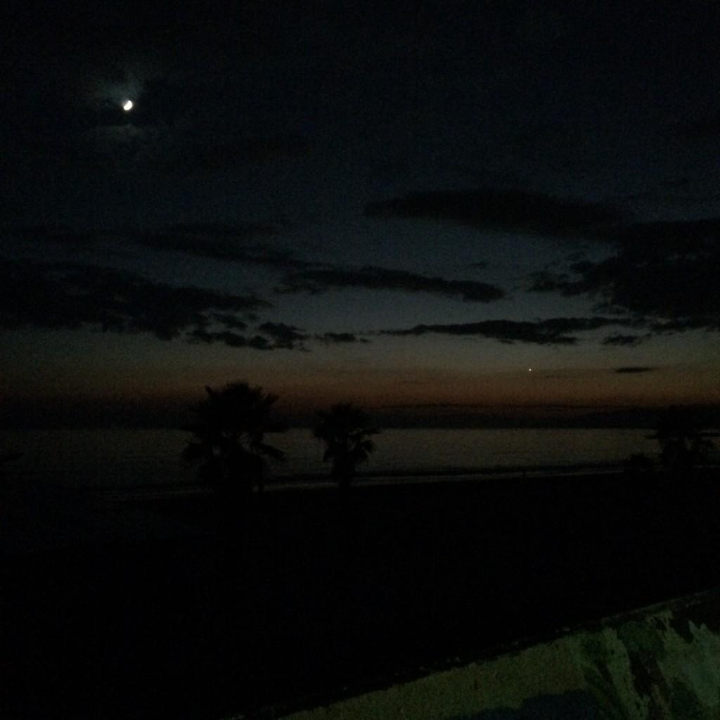 2015年10月17日(土)日没後の和歌山磯ノ浦