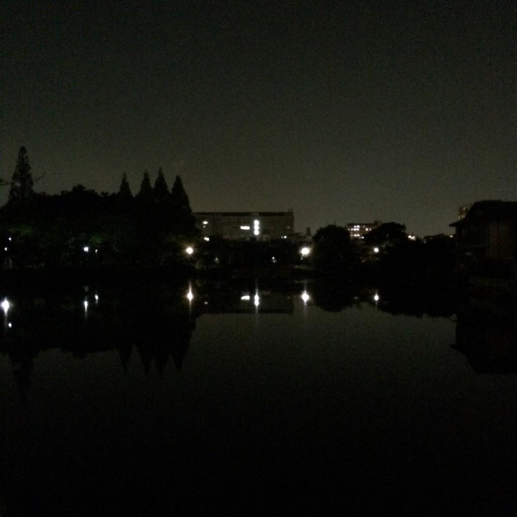 2015年10月19日(月)20時半頃の桃が池