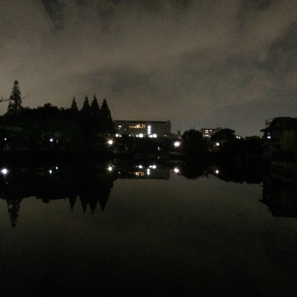 2015年11月2日(月)20時頃の桃が池