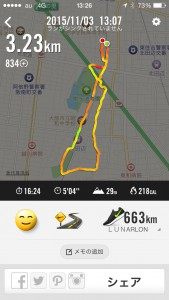 2015年11月3日(火)祝Nike+