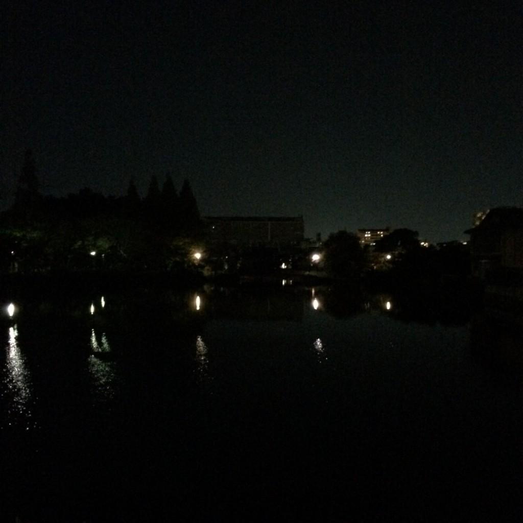 2015年11月15日(日)20時頃の桃が池